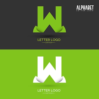 Logo w kształcie listu organicznych liści w kształcie zielonego origami