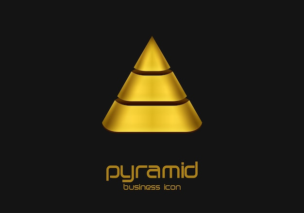 Logo w kształcie piramidy