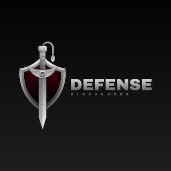 Logo w stylu gradientu miecza.