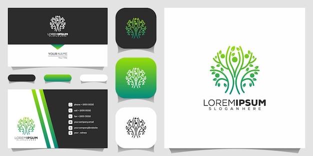 Logo w stylu linii drzewa