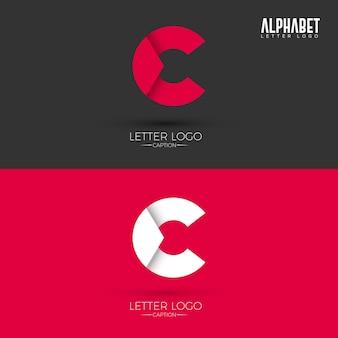 Logo w stylu litery c origami
