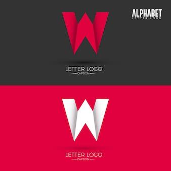 Logo w stylu origami w letter