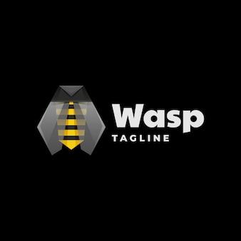 Logo wasp gradient kolorowy styl