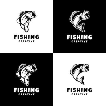 Logo wędkarstwa sport nowoczesny kreatywny
