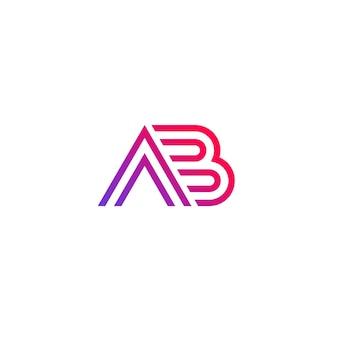 Logo wektor ab, projekt monogramu