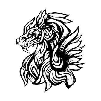Logo wektor anubis