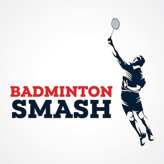 Logo wektor badmintona, sylwetka wektor premii