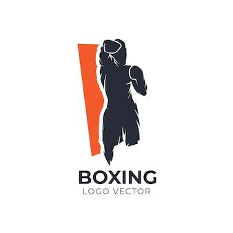 Logo wektor boks sylwetka