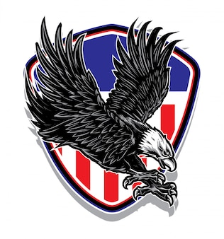 Logo wektor eagle