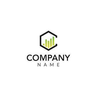 Logo wektor finansowy
