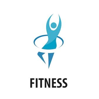 Logo wektor fitness ludzi