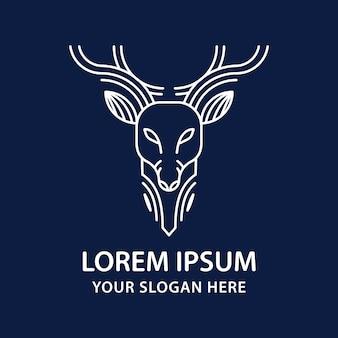 Logo wektor głowa jelenia.
