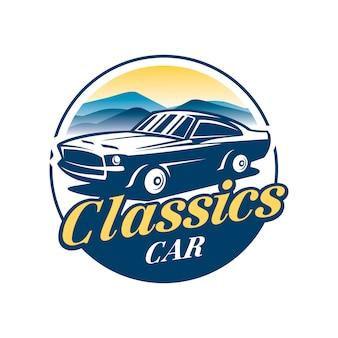 Logo wektor klasyczny samochód
