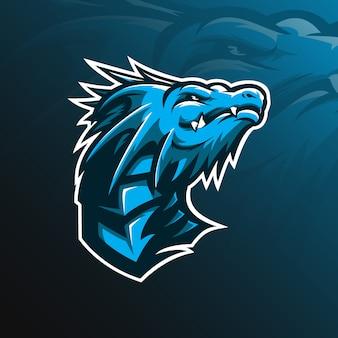 Logo wektor maskotka smoka
