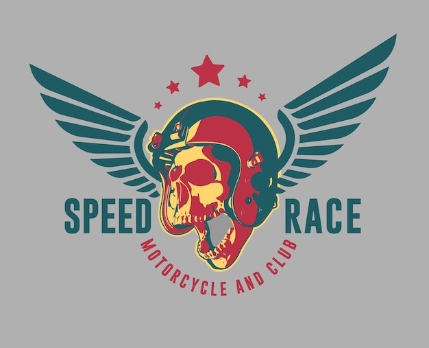 Logo wektor nowoczesny motocykl. klub i garaż.