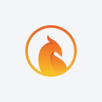 Logo wektor phoenix birds badge
