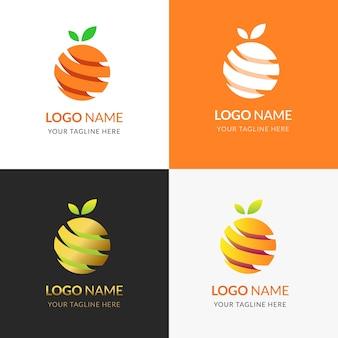 Logo wektor pomarańczowy w nowoczesnym stylu płaski