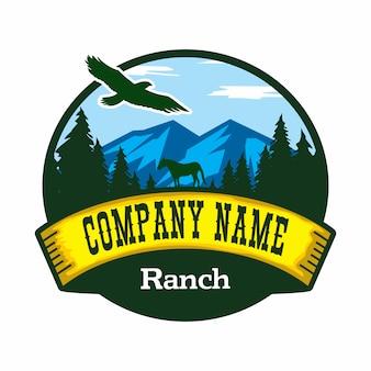 Logo wektor ranczo
