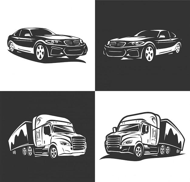 Logo wektor transportu samochodu