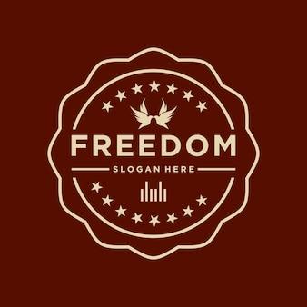 Logo wektor wolności kreatywne proste