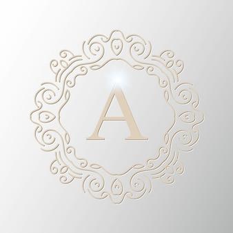 Logo wektor wzór monogram.