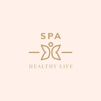 Logo wektor zdrowy życie spa