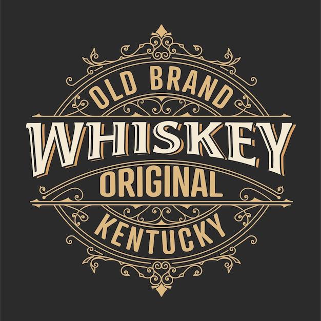 Logo whisky z kwiatowymi elementami.