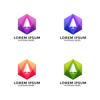 Logo wielokąta choinki