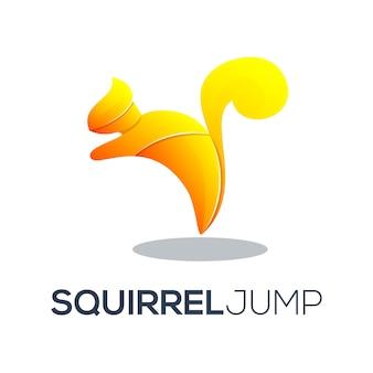 Logo wiewiórki z niesamowitym gradientem