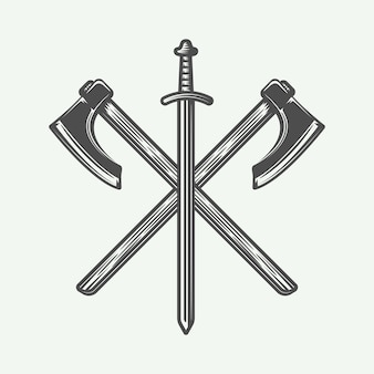 Logo wikingów
