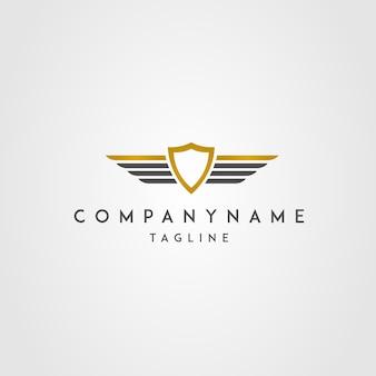 Logo wings shield