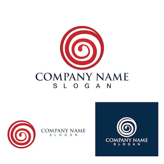 Logo wiru ognistego i symbol wektor obrazu