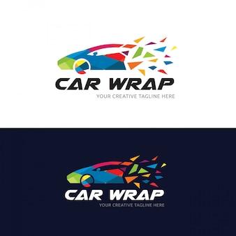 Logo wiszącego samochodu, szablon logo samochodu i samochodu.