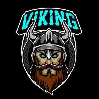 Logo wojownika wikingów
