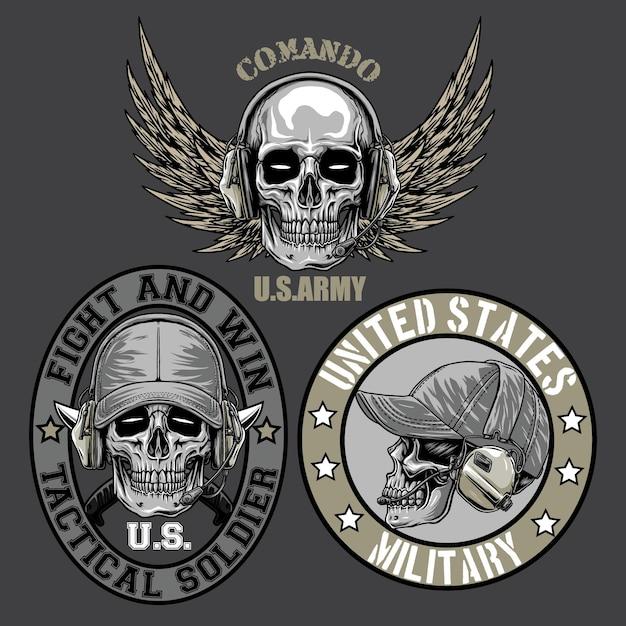 Logo wojskowe w ciemnym tle
