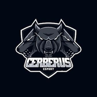 Logo wolf w stylu e-sportowym.