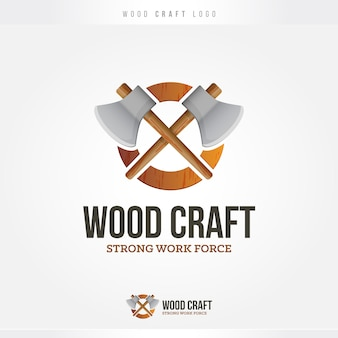 Logo wood and axes