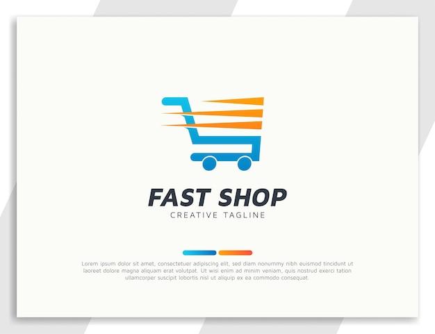 Logo wózka na zakupy z szybkim efektem