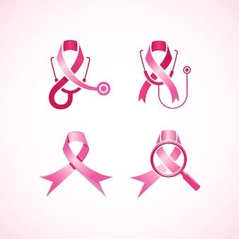 Logo wstążki z rakiem piersi