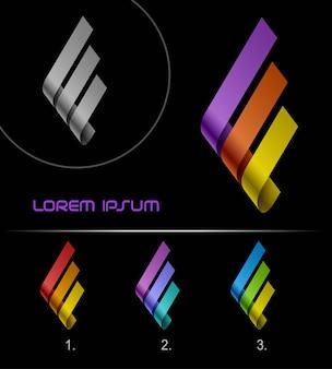 Logo wstążki, zapętlony logotyp nieskończoności hi tech, szablon projektu abstrakcyjnego wektora biznesowego, logotyp biznesowy koncepcji kreatywnej