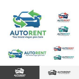 Logo wynajmu samochodu