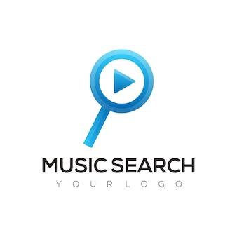 Logo wyszukiwania muzyki kolorowe