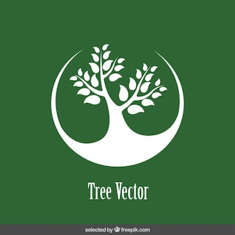 Logo z drzewa sylwetka