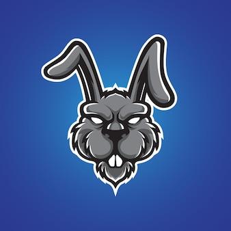 Logo z głową królika