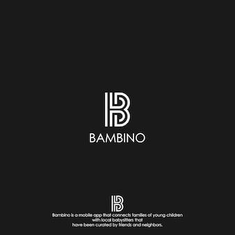 Logo z literą b.