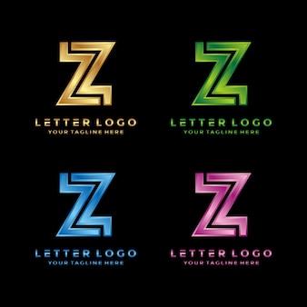 Logo z literą z. luksusowe 3d nowoczesne logo.