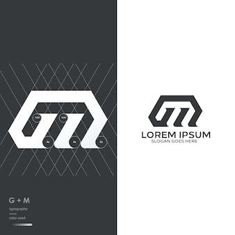 Logo z monogramem g i m