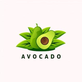 Logo z owocami awokado