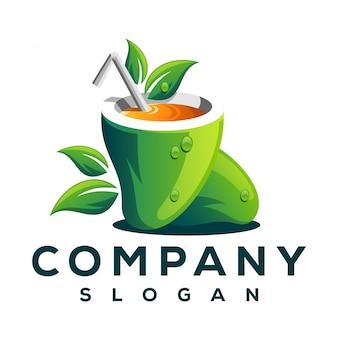Logo z owocami mango