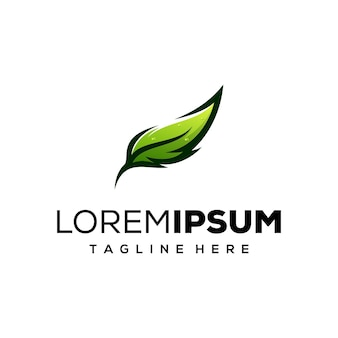 Logo z piór lub liści